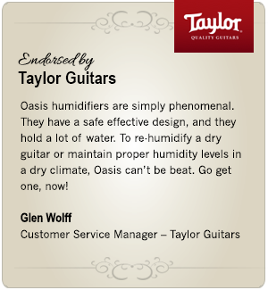 Oasis Humidifier Taylor Guitar